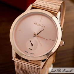2018 Роскошные Для женщин металлической сетки часы простота Классические наручные моды Повседневное кварцевые Высокое качество Для женщин