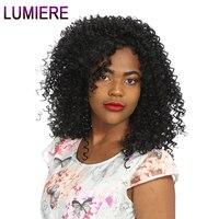 Lumiere волосы индийские афро курчавые переплетения Пряди человеческих волос для наращивания 100 г не Реми ткань можно купить 3/4 шт натуральный ...