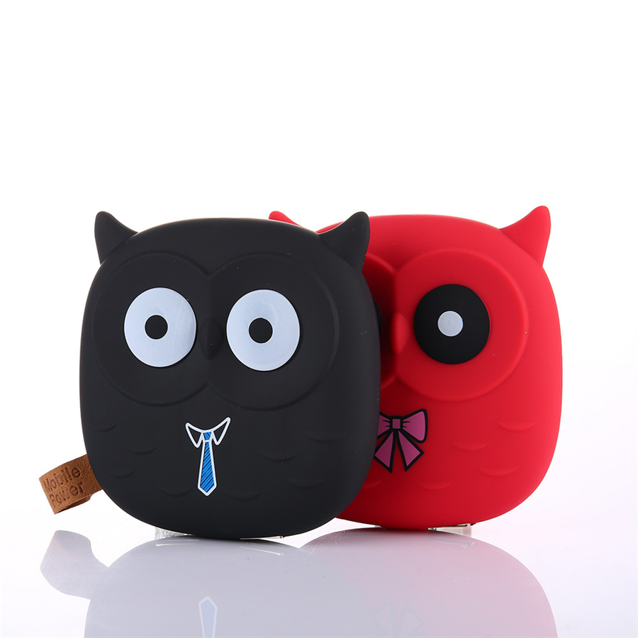 NEW Lowest Price Cute Owl Cartoon Mobile Power Bank Charger External Battery 10000mAh Dual USB for Cellphone Smartphone DropShip