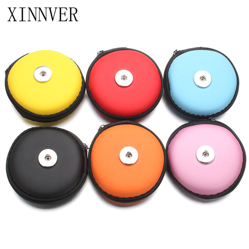 New 18MM Snap Button Jewelry Small Coin Purses Wallets Pouch Girl Women Money Bags Valentines Day Gifts