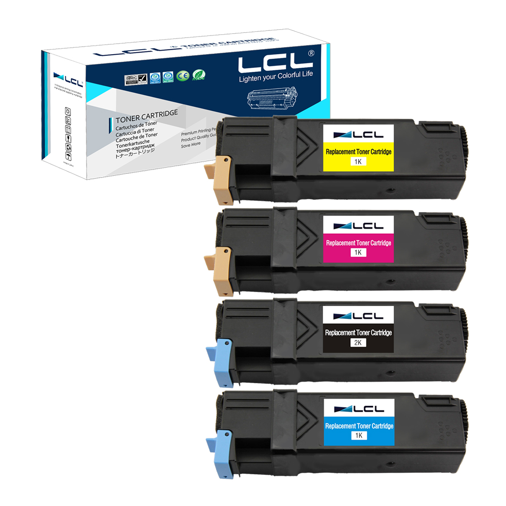 LCL CT201260 CT201261 CT201262 CT201263 (4-Pack)  Laser Toner Cartridge Compatible for Fuji Xerox DocuPrint C1190 C1190FS powder for fuji xerox dp cm 225 mfp docuprint cm115 w docuprint cm225 mfp dp cp 115 w replacement cartridge toner cartridge