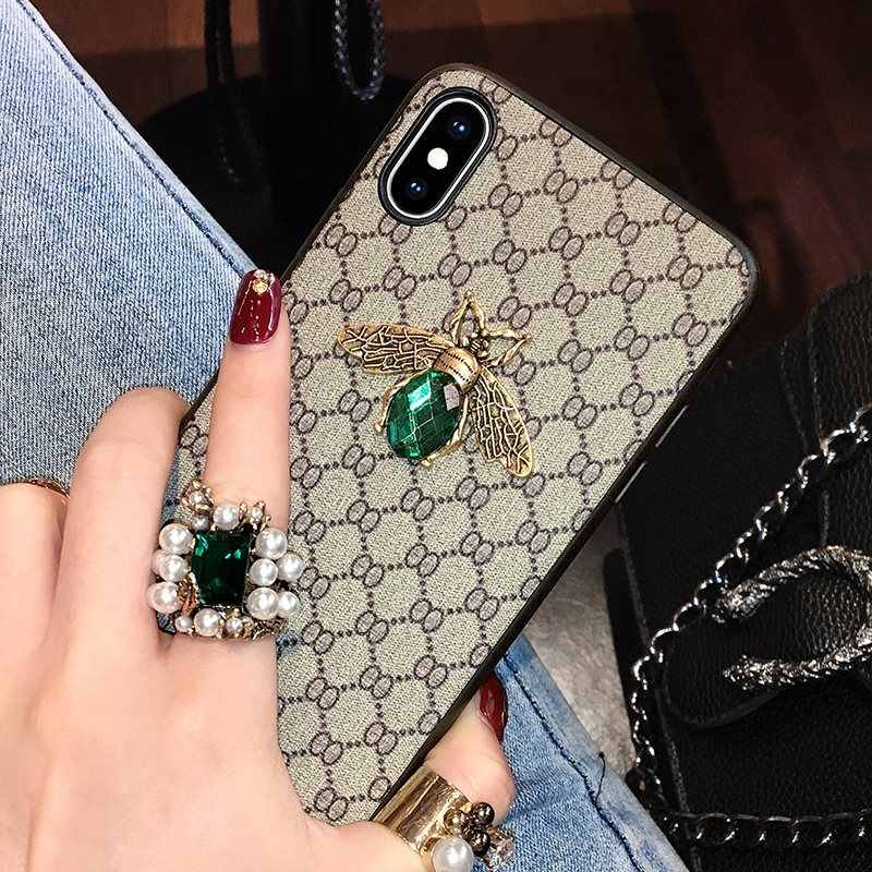 Luxury Shiny Bee Glitter Case For iPhone XS Max XR X 7 8 6 6S Plus Case For Samsung S10 e lite S9 S8 Plus Note 9 8 A50 A70 Cover