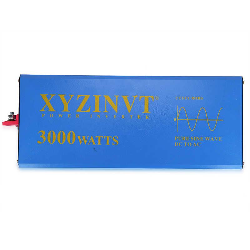 Off Grid czysta sinusoida inwerter słoneczny 24 V 230 V 3000 W banku mocy falownika pompy/konwerter samochodowy 12 V/24 V/48 V DC do 120 V/220 V/240 V AC