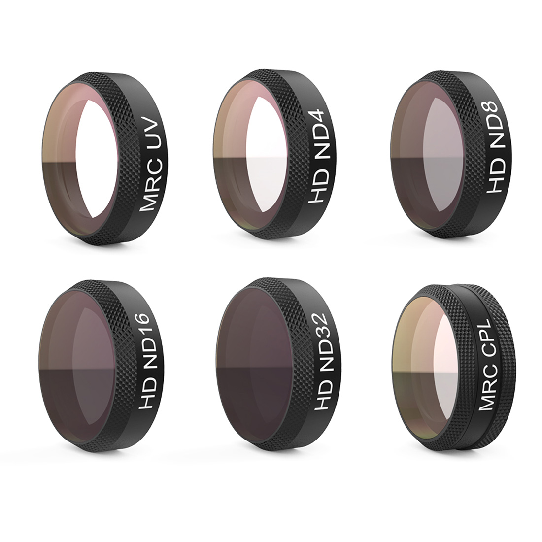 PGYTECH 6Pcs UV+ND4+ND8+ND16+ND32+CPL Filter Kit Lens Filters for DJI Mavic Air RC Quadcopter(UV ND4 8 16 32 CPL) 6pcs set pgytech original lens filters for phantom 4 pro drone accessories g hd mcuv nd4 nd8 nd16 nd32 cpl hd filter