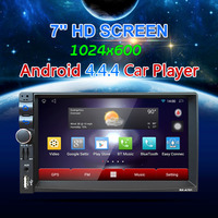 LESHP Android 4 4 4 Car DVD GPS Player 1028 600 Capacitive HD Touch Screen Radio