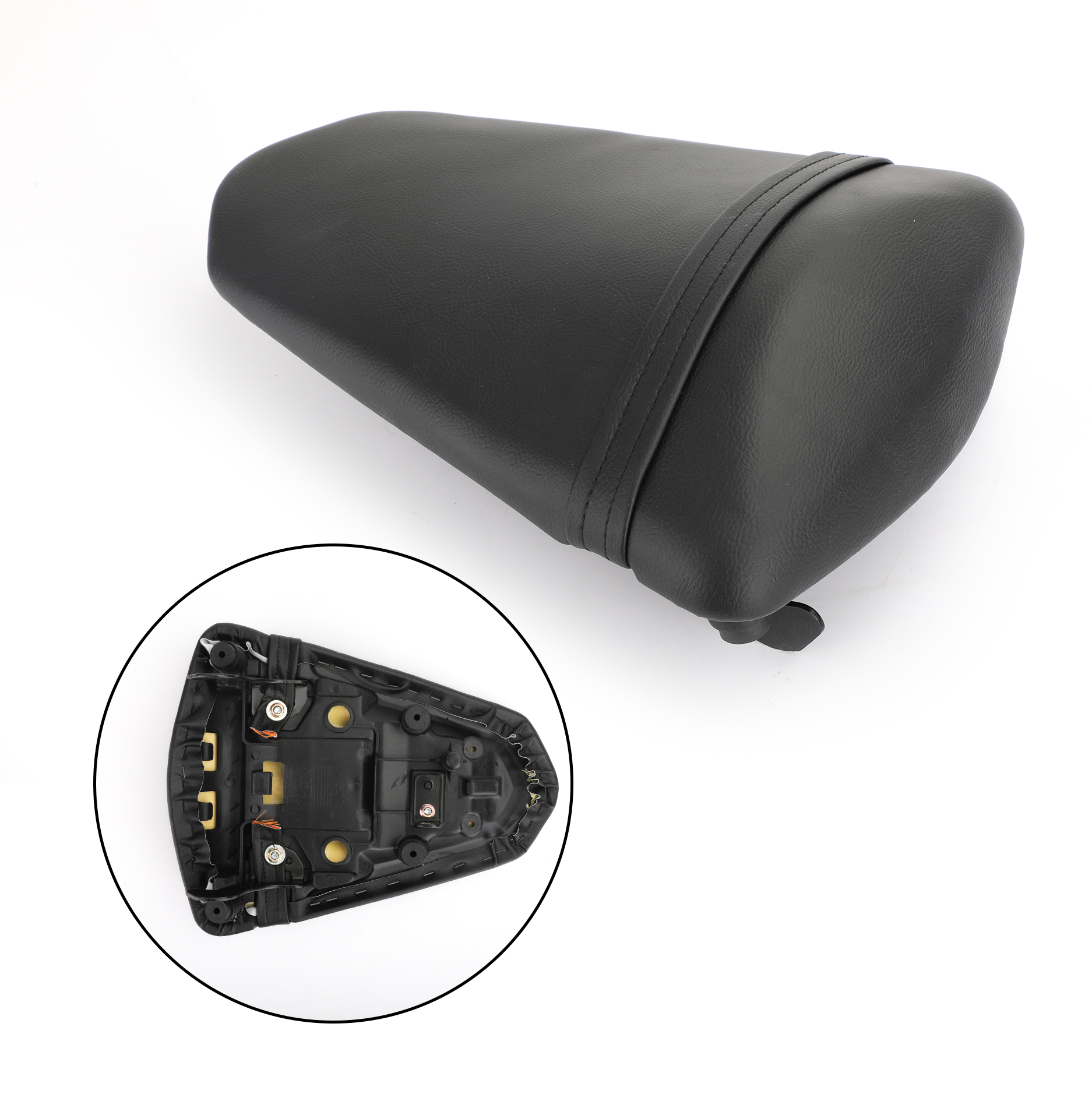 Areyourshop Motorcycle Rear Passenger Seat Black Cushion Pad For Yamaha YZF R3 15-18 YZF R25 2013-2018 Motorcycle Accessories