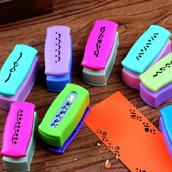 Gallery Decoration DIY Hole Punch Embossing Scrapbooking Boundary Perforator Paper Cutter Puncher Birthday Gift 5pcs SK763 diy 15 tones hand cranked music box movement with hole puncher and paper tape