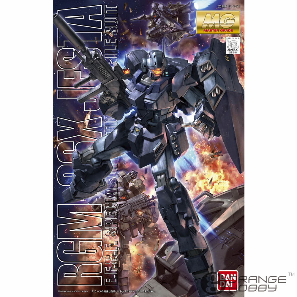 OHS Bandai MG 168 1/100 RGM-96X Jesta Mobile Suit Assembly Model Kits bandai sw 1 12 stormtrooper assembly model kits