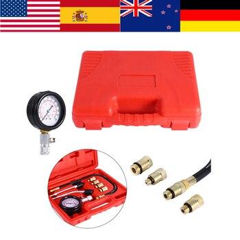Probador de compresión de cilindro 0-300 PSI Kit de herramientas de diagnóstico de motocicleta de coche medidor de presión de motor de Gas medidor de compresión de aceite