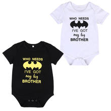 Fashion Toddler Baby Boy Girl Batman Jumpsuit Bodysuit Sunsuit Clothes Outfits(China)