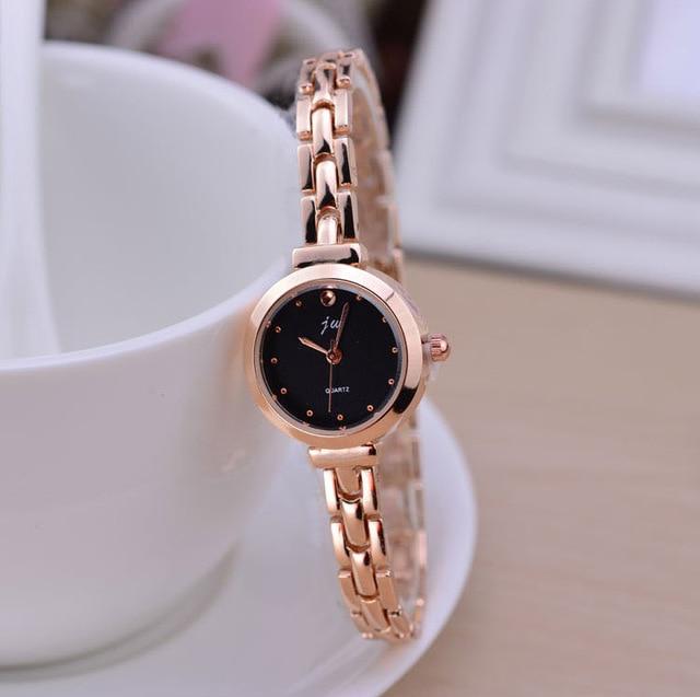 9850c003af2 Moda Ouro Rosa Pulseira Relógios Mulheres Top de Luxo Da Marca Senhoras  Relógio De Quartzo Famoso