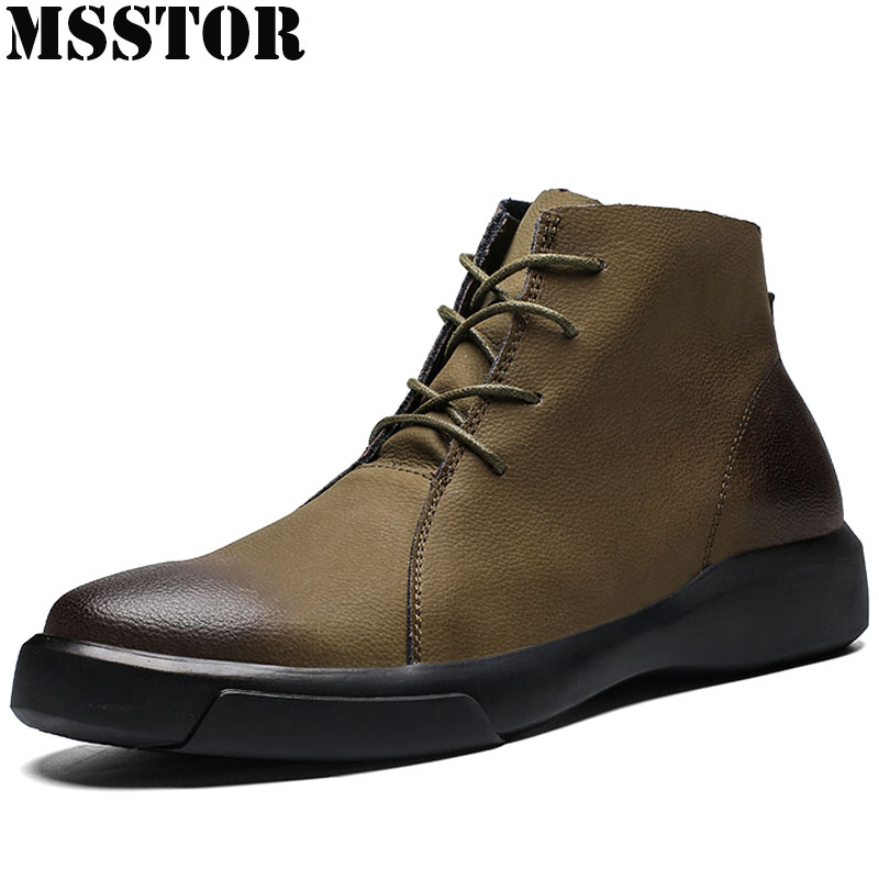 MSSTOR Plus Size 38 48 Men Skateboarding Shoes Martin Boots Casual Fashion Sport Shoes Man Brand Athletic Walking Sneakers Male