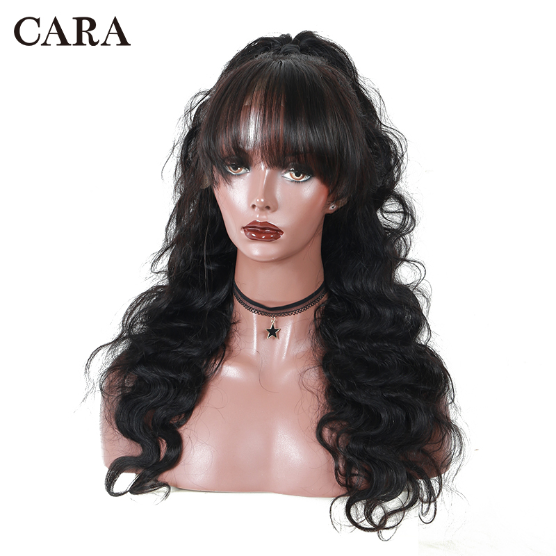 360 Lace Frontal Wig Pre Plucked With Baby Hair Brazilian Hair Lace Front Human Hair Wigs With Bangs Remy Body Wave Lace Wig