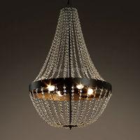 Krajem ameryki wisiorek światła. K9 żelazne z kryształami śródziemnomorskie światło lampy  oświetlenie do salonu sypialni oprawa Art deco Lampion w Wiszące lampki od Lampy i oświetlenie na