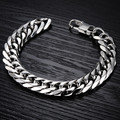 10PCS Men jewelry stainless steel bracelet luxury length 22cm/width 14mm/thick 3mm bracelet chain fashion charm bracelets gifts