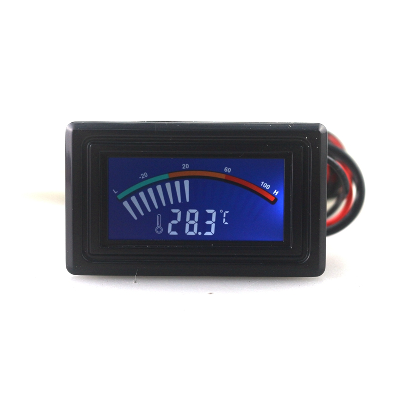 - 50~110C Digital LCD Pointer Thermometer in the Car Water Temperature Tester C/F with Sensor for Air Conditioning Boilers