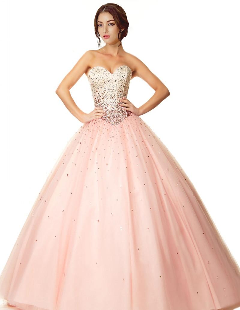 2015 caliente vendiendo Light Pink Quinceanera vestidos novia ...