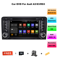 Android 5 1 Two Din 7 Inch Car DVD Player Multimedia For A3 2002 2013 Canbus