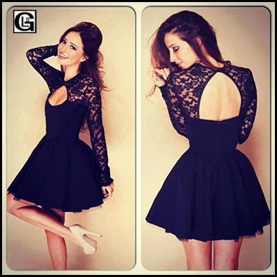 87f371156ba4 Vestido De Festa Renda Backless Hollow Out Short Dress China Online Shop  Fashion Sexy Club Night Party Mini Dress qxyl050-AY