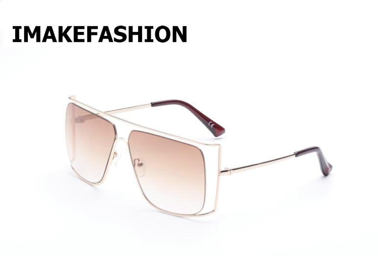 IMAKEFASHION 2017 Oversized Rimless Sunglasses for Women Gradient Vintage Shades Top Quality Lunette De Soleil Femme JWW145 hot retro vintage women shades oversized eyewear classic designer sunglasses high quality