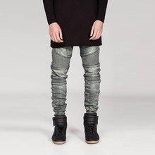 Человек джинсы бренд yeezy повышение джинсы мужчины байкер джинсы робин духи 212 страх божий Джинсовые мужчин джинсы омывается классические узкие брюки