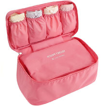 Women's Storage Bag Travel Necessity Accessories Underwear Clothes Bra Organizer Cosmetic Makeup Pouch Case zip lock plastic(China)