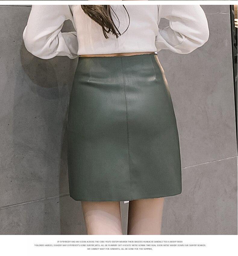 Aliexpress.com  Comprar Buena calidad mini faldas de cuero de la PU para  mujer 2018 primavera verano vintage alta cintura O anillo cremallera diseño  falda ... c3da75b06c2f