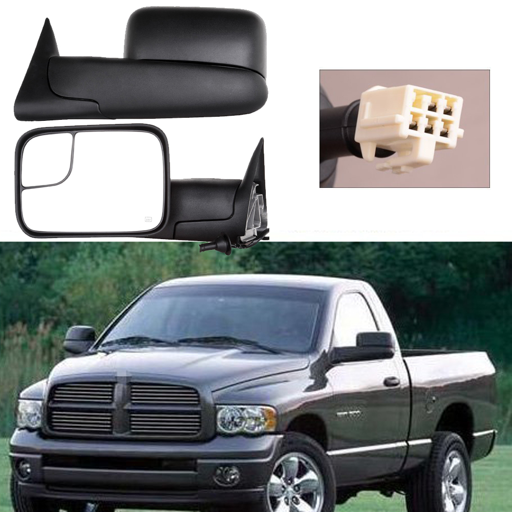 Power Heated Telescoping Tow Mirror For 1998 2001 Dodge Ram 1500 2500 Towing Mirrors 2002 3500 In Covers From Automobiles Motorcycles On