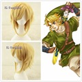 Free Shipping Link The Legend Of Zelda Sky Ward Sword Short Yellow Blonde cosplay Wig CC215+a wig cap