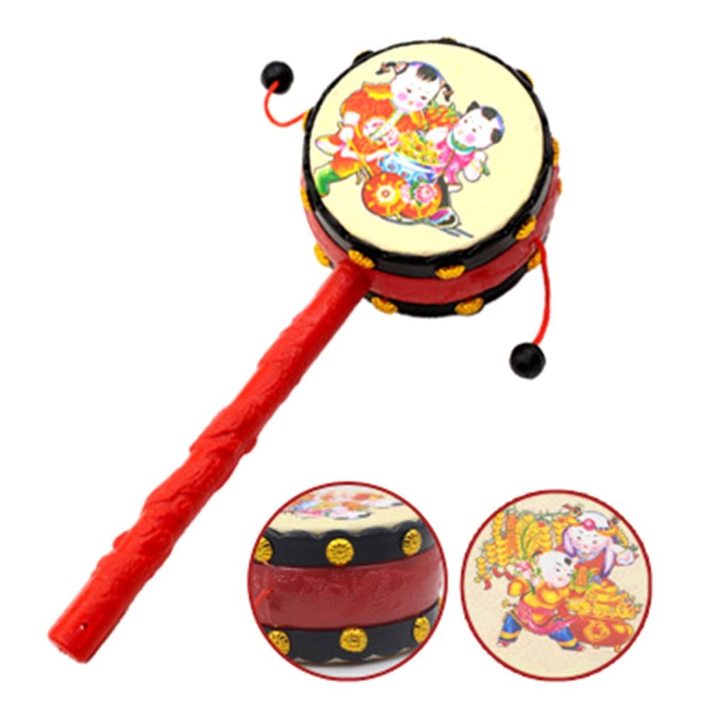 Игрушки для маленьких детей 0-12 месяцев Пластик Барабаны в форме погремушка для малышей новорожденных Музыкальные Развивающие Игрушечные л...