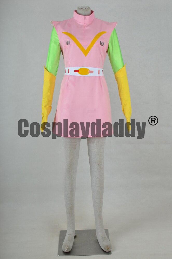 Super Robot électromagnétique com-battler Chodenji Robo Combattler V Chizuru Nanbara Stephanie Nambarra robe Cosplay Costume F006