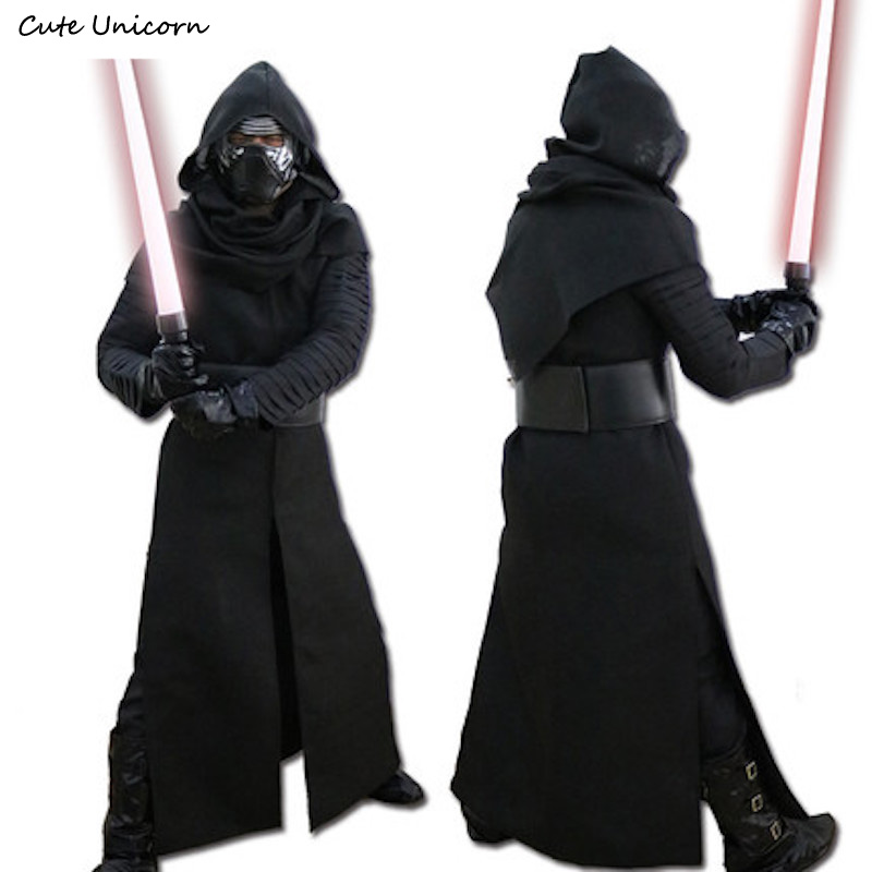 Star Wars 7 The Force Awakens Full Set Kylo Ren Cosplay Costumes Mens Uniform Jedi Knight