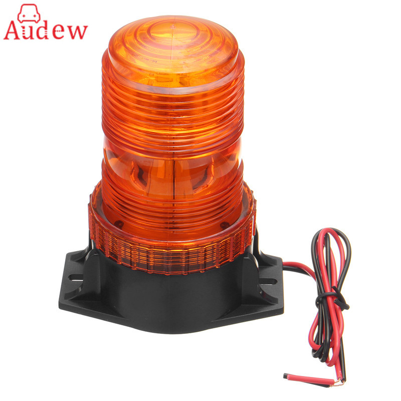 12-30V 30LED Working Light Car Truck  Warning Light Flash Beacon Strobe Emergency Lamp Amber Universal 4 led 12 24v car strobe flash light white red amber light vehicle truck rear side light car emergency warning lamp drop shipping