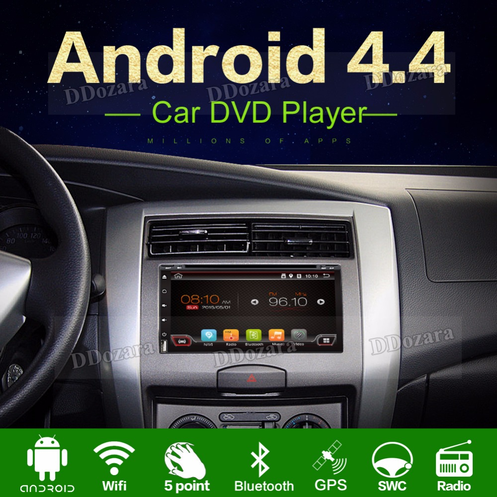 Quad core 3G 2 din android 4.4 2din New universal Car Radio Double Car DVD Player GPS Navigation In dash Car PC Stereo video
