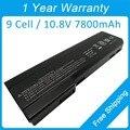 7800 mah batería del ordenador portátil para hp ProBook 6360b 6460b 6560b 628670-001 628668-001 HSTNN-W81C HSTNN-E04C QK642AA QK643AA CC06XL
