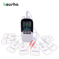 NEW Multi Functional Dual Output Massager Rhinitis Sinusitis Cure Unit Electronic Pulse Massager 8 Mode ElectroTherapy