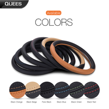PU Leather Auto Universal Steering Wheel Cover 37-38cm/14.56-14.96in Car-Styling Car-Cover Car Auto Interior Accessories