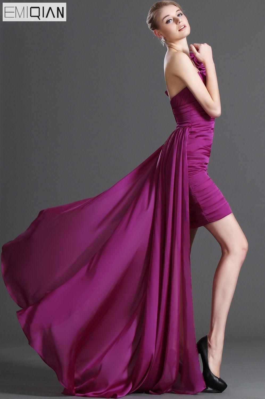 Envío Gratis nueva moda multifuncional un hombro de corte alto bajo ...