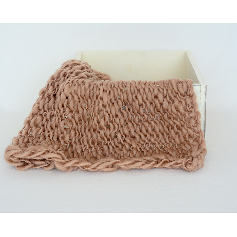 Newborn Props Newborn Photo Layer Chunky Faux Wool Blanket Knitted