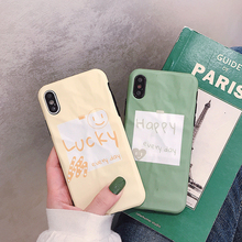 VZD Cute Smiley Face Happy Rabbit Phone Case For iPhone 7 8 6 6s Plus Green Cover For iPhone X XS Max XR Soft Tpu Back Case gastar gastar sp 3268r
