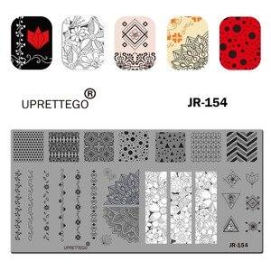 Image 5 - 2019 Paslanmaz Çelik tırnak yapıştırması Şablon Rus Cümle Kedi Çiçek Köşe Tropikal Meyve Piksel Desen Tırnak Aracı JR151 160