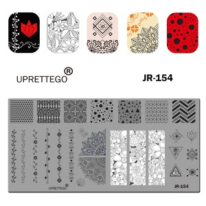Image 5 - 2019 Stainless Steel Stamping Plate Template Russian Phrase Cat Floral Corner Tropical Fruit Pixel Pattern Nail Tool JR151 160