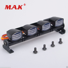 1:10 Scale LED Light Bar White Square Lights fit 1/10 1/8 RC Car Model Toys Accessory for Collections
