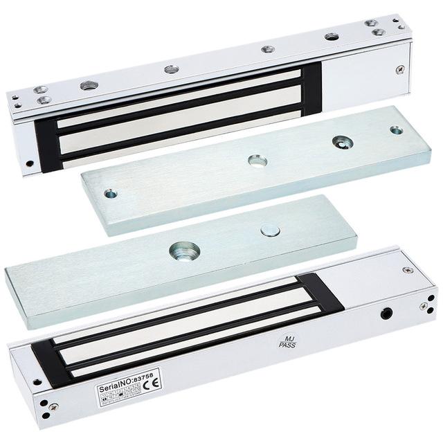 280 KG £600 única porta 12 V fechadura elétrica para porta magnética electromagnética Lock força de retenção para controle de acesso com luz LED