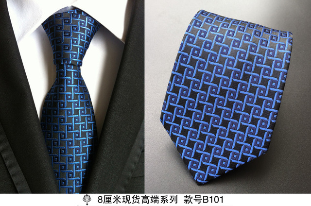 100% Silk Plaid Ties Gifts for Men 2