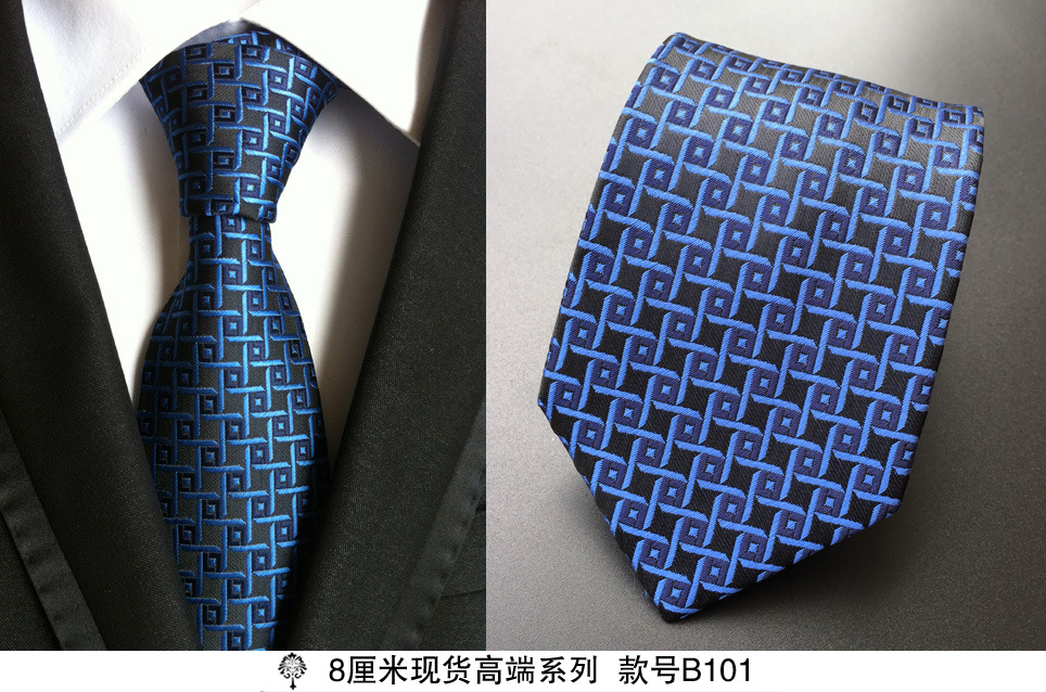 hot 100 silk plaid ties gifts for men shirt wedding cravate pour homme jacquard woven necktie
