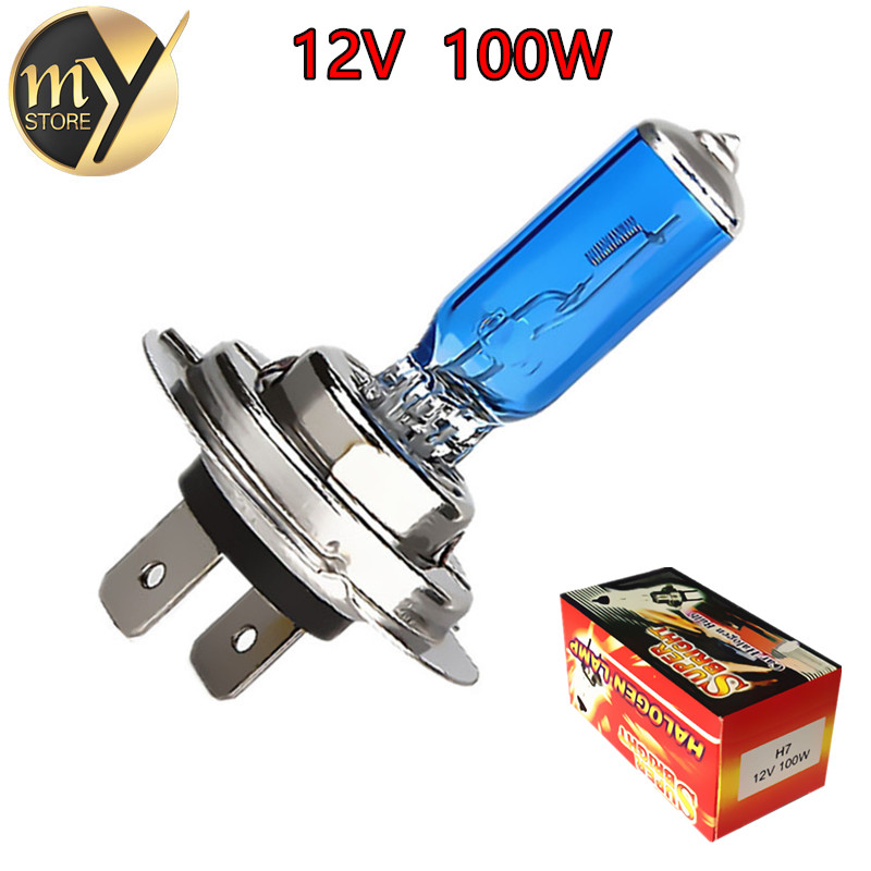 H7 100W 12V Super Bright White Fog Lights Halogen Bulb High Power Car Headlights Lamp Car Light Source parking аккумуляторная дрель шуруповерт bort bab 10 8 p