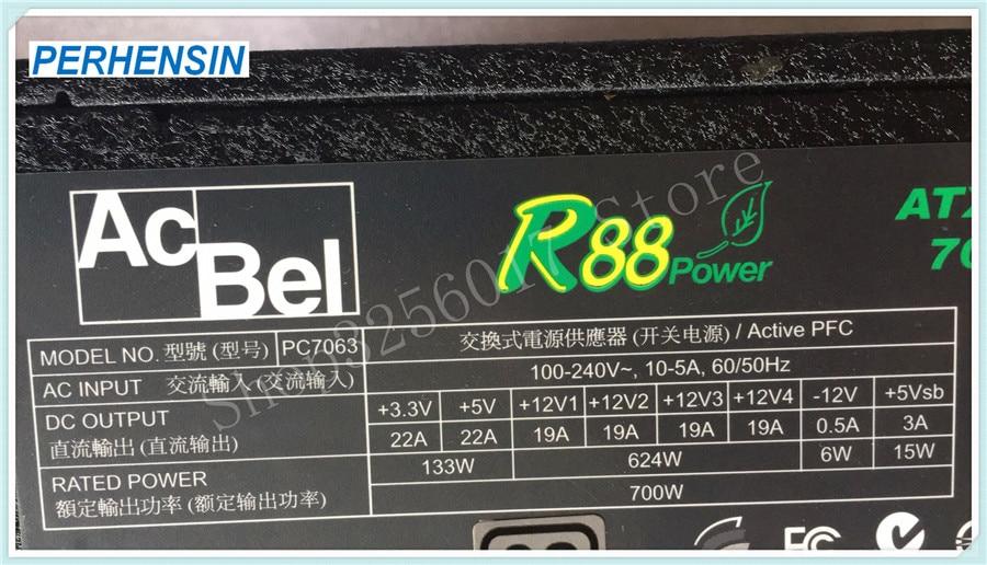 FOR AcBel R88 Power Supply 700W PC7063 ATX12V G30AB-CA005S 80 Plus Silver