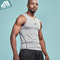 Aimpact Men S Tank Top Man Bodybuilding Running Fitted Tights Crossfit Workout Sport Athletic Gym Lifting