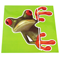 Green Funny Cute Frog Car Stickers and Decals for car-styling Automobile Window Decoration Accessories